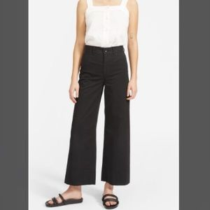 New Everlane Black Wide-Leg Crop Pant Size 16 NWT